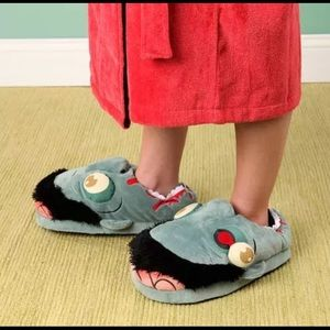 Zombie Plush Slippers One Size Up to 12 Think Geek